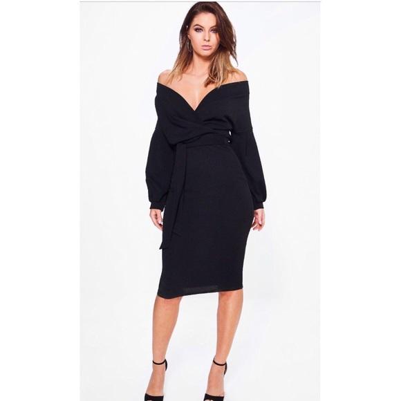 ab6a6b619e5b Boohoo Dresses & Skirts - Boohoo Nina off the shoulder dress